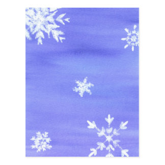 snow flakes postcard