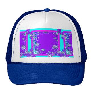 Snow Flakes Purple Twilight By Sharles Mesh Hat