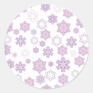 Snow-Flakes- Round Sticker