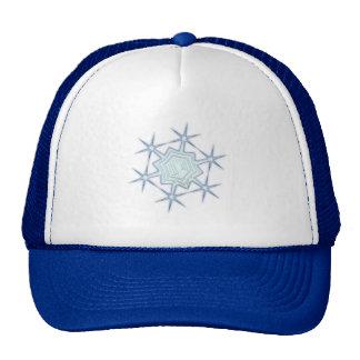 Snow flakes snow flake mesh hats
