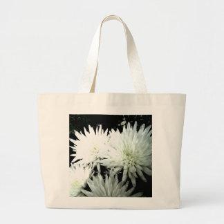 Snow Flower Black and white Chrysanthemum Bag