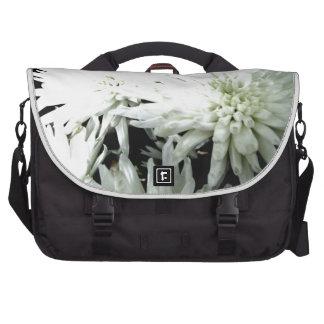 Snow Flower Black and white Chrysanthemum Laptop Bags