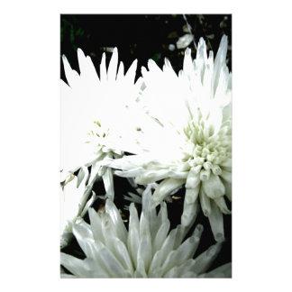 Snow Flower Black and white Chrysanthemum Stationery Paper