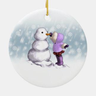 Snow Friend Ceramic Ornament