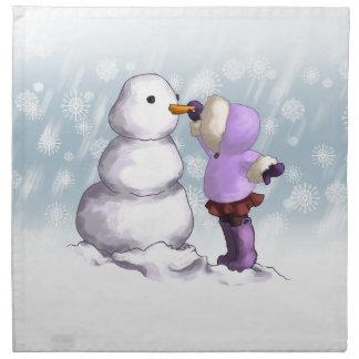Snow Friend Printed Napkin
