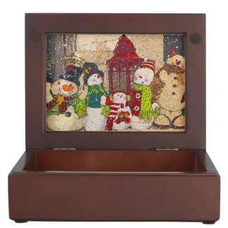 SNOW FRIENDS KEEPSAKE BOX
