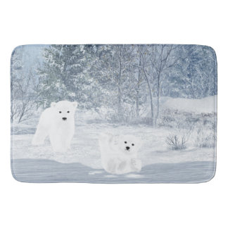 Snow Fun - Polar Bear Cubs, Bath Mat