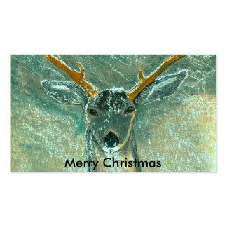 snow gazer Merry Christmas Business Card