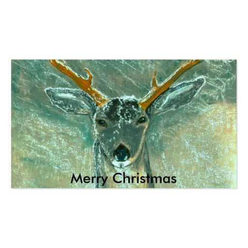 snow gazer, Merry Christmas Business Card