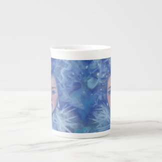Snow Girl, winter fantasy art, Christmas New Year Tea Cup