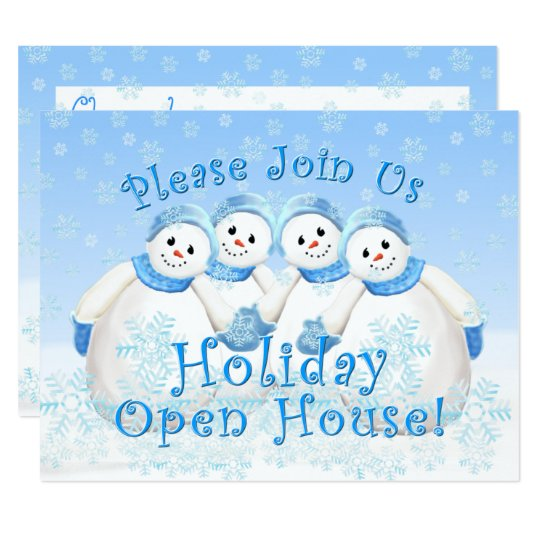 Snow Girls Holiday Open House Invitations