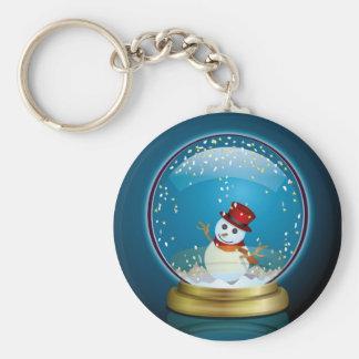Snow Globe 2 Key Ring
