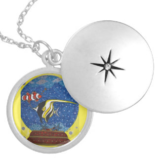 Snow globe 3 locket necklace