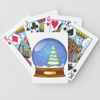 Snow Globe Cartoon Bicycle Playing Cards