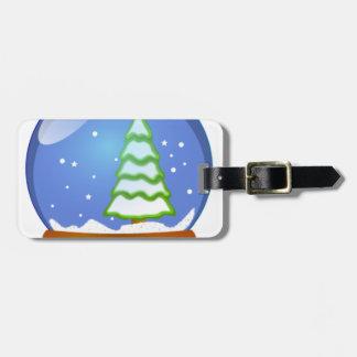 Snow Globe Cartoon Luggage Tag