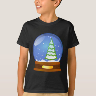 Snow Globe Cartoon T-Shirt
