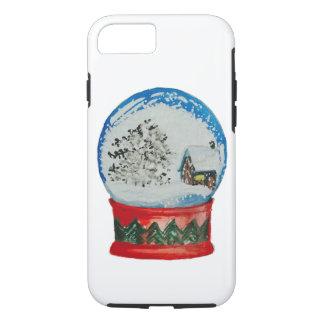 Snow Globe Crystal Ball Winter Village Christmas iPhone 8/7 Case