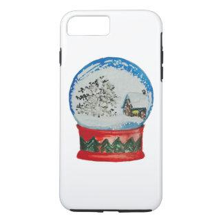 Snow Globe Crystal Ball Winter Village Christmas iPhone 8 Plus/7 Plus Case
