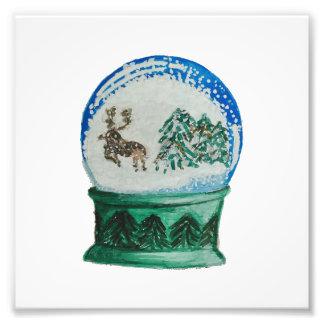 Snow Globe Glass Ball Winter Wonderland Christmas Art Photo