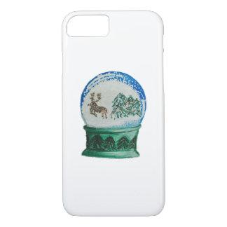 Snow Globe Glass Ball Winter Wonderland Christmas iPhone 8/7 Case