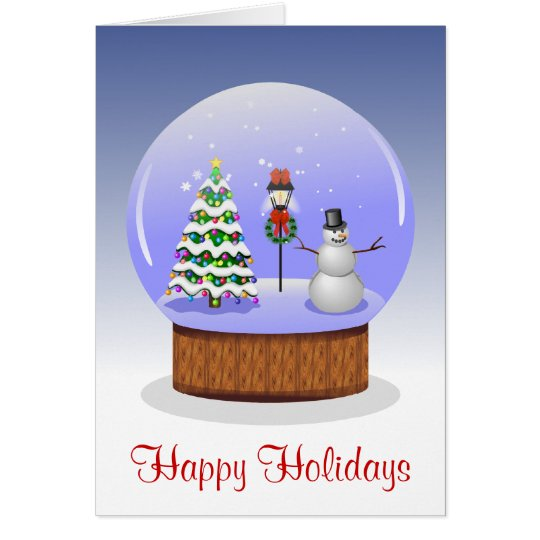 Snow Globe Happy Holidays Card