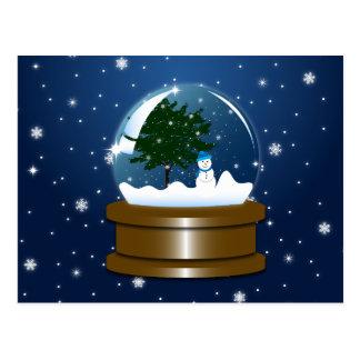 Snow Globe Postcard