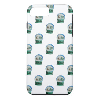 Snow Globe Repeat Pattern Winter Village Christmas iPhone 8 Plus/7 Plus Case