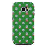 Snow Globes Mixed Pattern on Christmas Green Samsung Galaxy S6 Cases