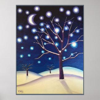 """Snow Glow"" Poster"