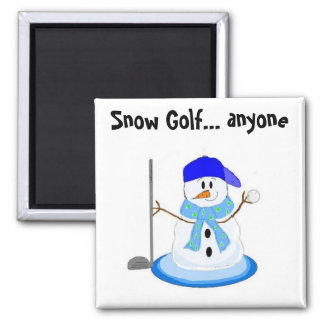 Snow Golf Magnet