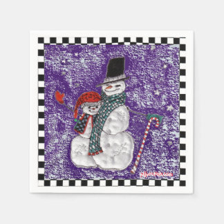 Snow Greetings Paper Napkins