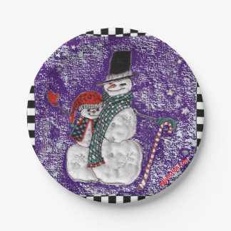 Snow Greetings Paper Plate