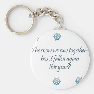Snow Haiku Basic Round Button Key Ring