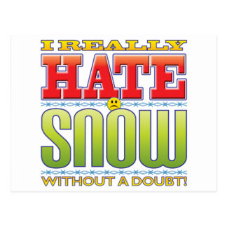 Snow Hate Face Post Card