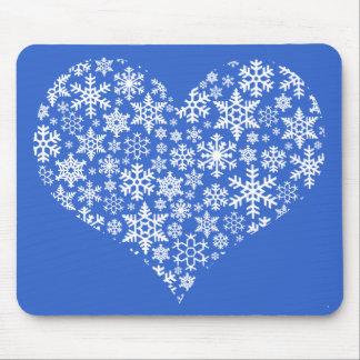 Snow Heart  - mousepad
