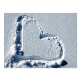 Snow Heart Postcard