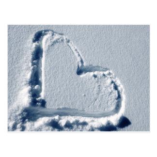Snow Heart Postcard