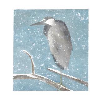 Snow Heron Notepad