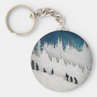 Snow Hike II Key Ring