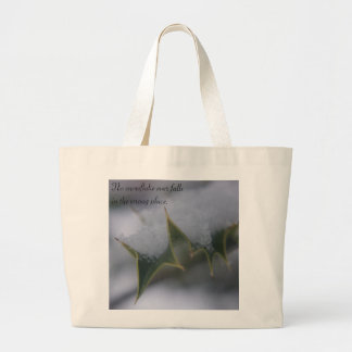 Snow Holly - Quote Jumbo Tote Bag