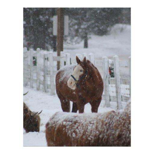 Snow Horse, Merry Christmas! Flyers