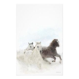 Snow Horses - Stationary Customized Stationery