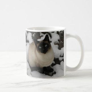 Snow Images, Snow Cat Basic White Mug