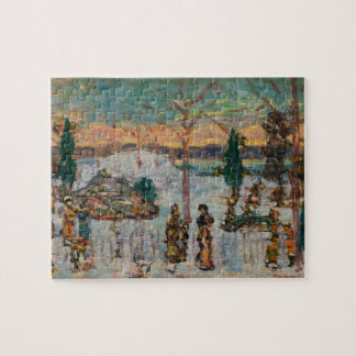 Snow in April by Maurice Prendergast Jigsaw Puzzle
