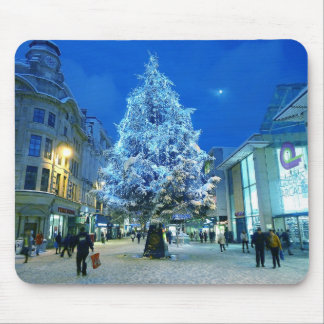 Snow in Cardiff Mouse Pad