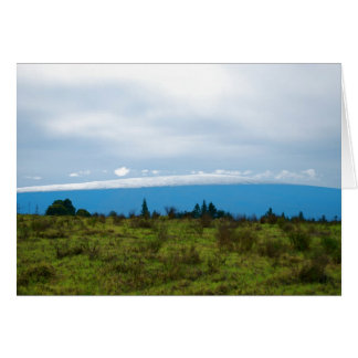 Snow in Hawaii - Mauna Loa Card