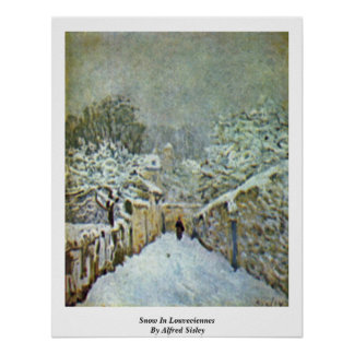 Snow In Louveciennes By Alfred Sisley Poster