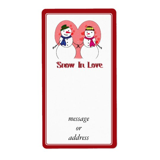 Snow In Love Shipping Label