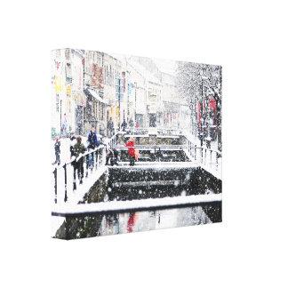 Snow in Midsomer Norton Canvas Print