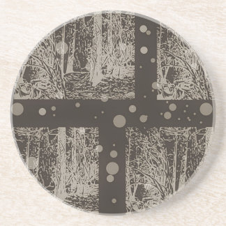 snow in the forest design #1 coaster